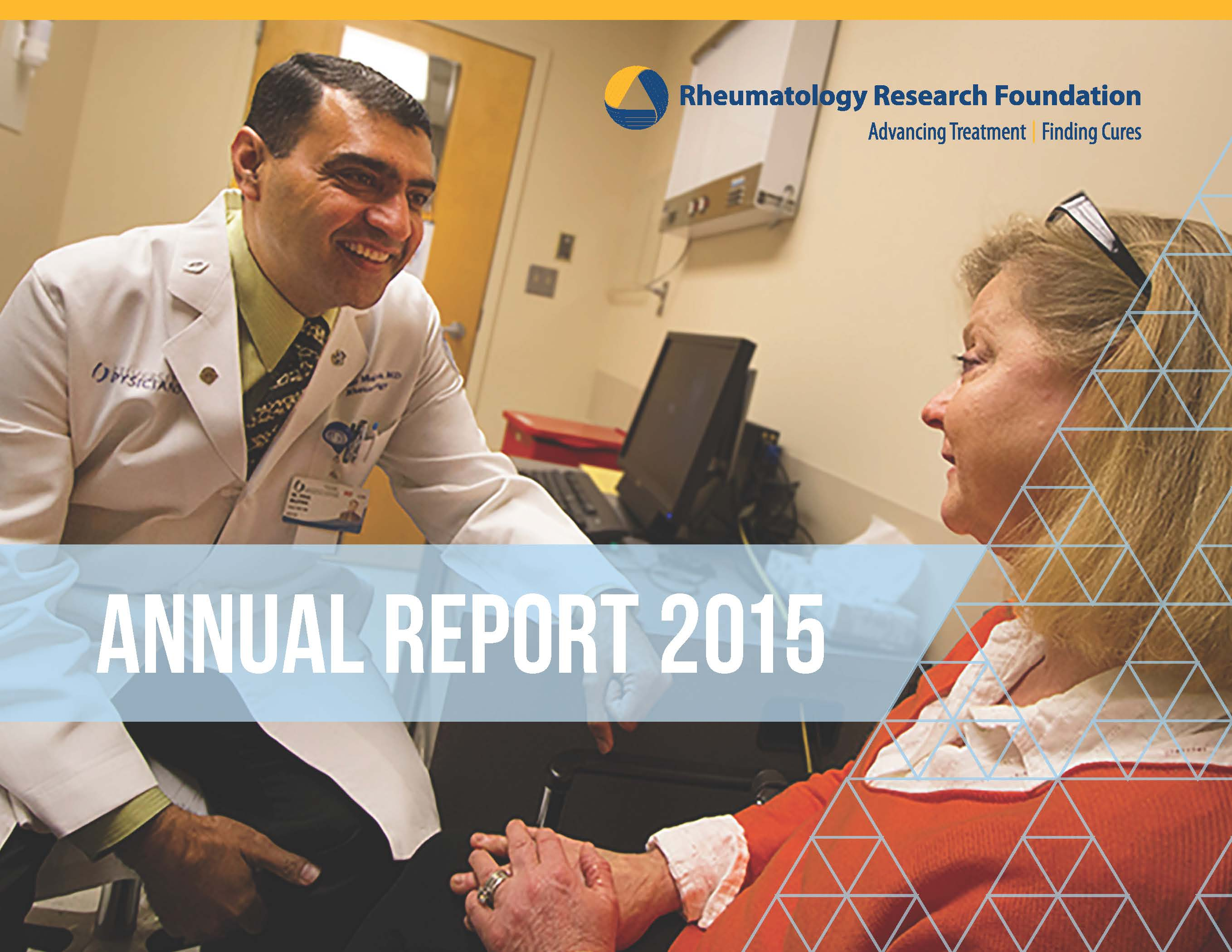 2015 Rheumatology Research Foundation Annual Report Cover