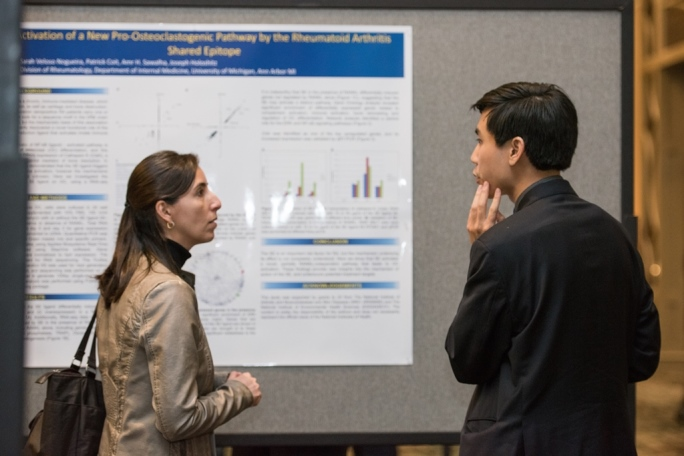 Dr. Brian Le presenting research on rheumatic disease at 2016 Investigator's Meeting