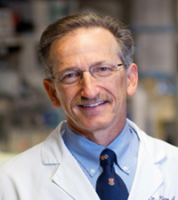 Dr. Firestein, a rheumatologist studying tissue and joint inflammation from RA.