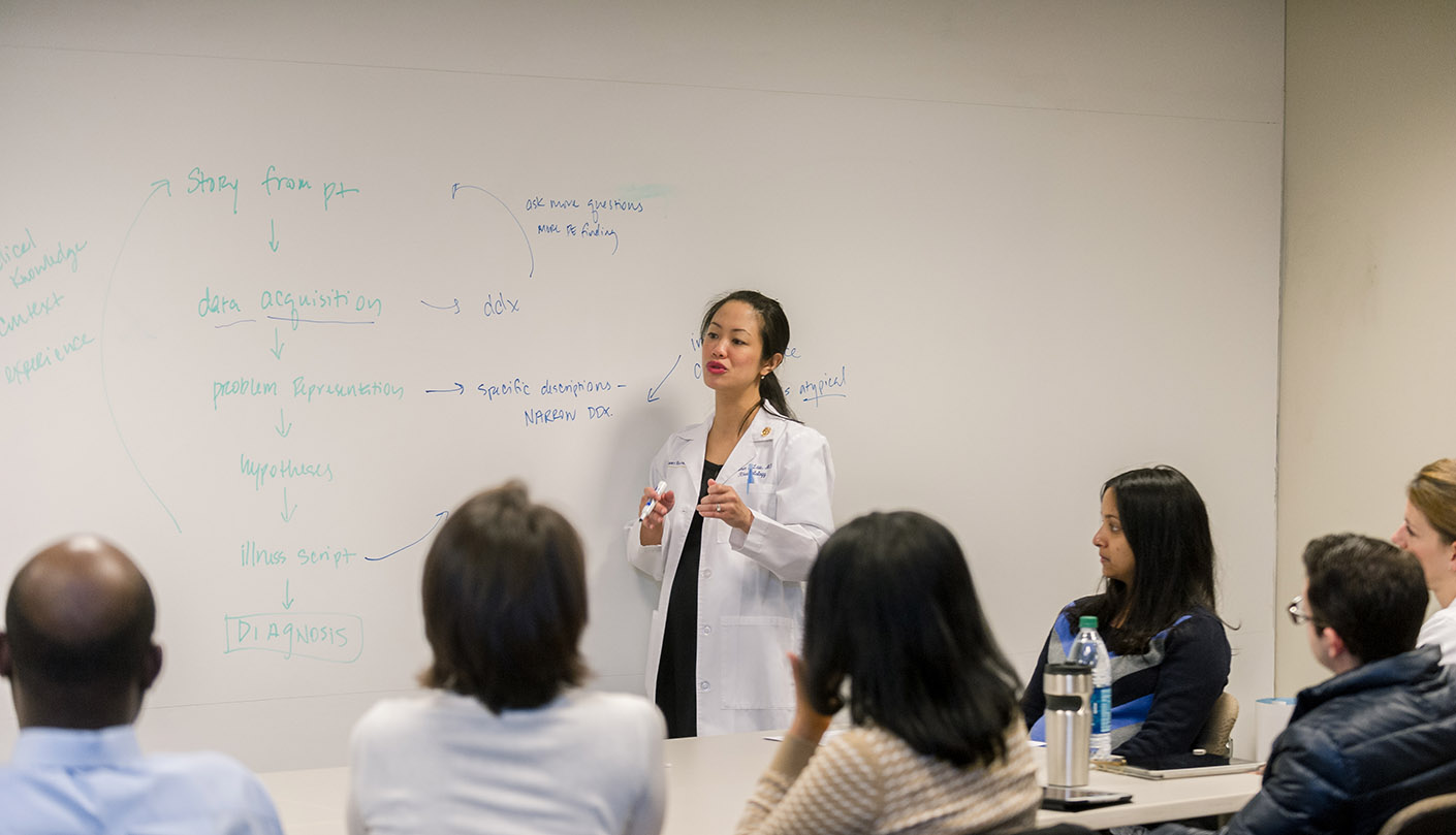 Emory University Assistant Professor in Rheumatology Dr. Karen Law teaches a class.