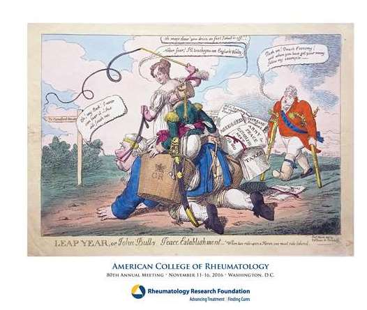 """2016 Annual Framed Gout Print """"Leap Year"""" is a vintage symbol of rheumatology research and training support."""