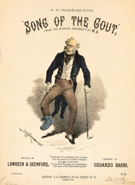 "1994 Annual Gout Print ""Song of the Gout."""