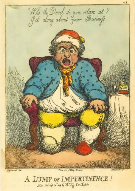 "2000 Annual Gout Print ""A Lump of Impertinence."""
