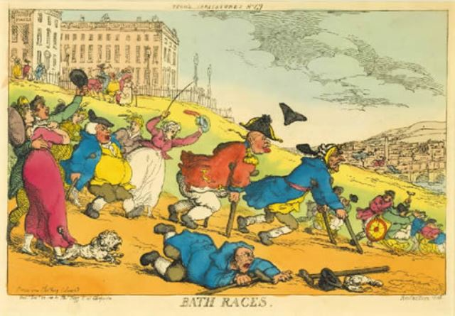 "2004 Annual Gout Print ""Bath Races."""