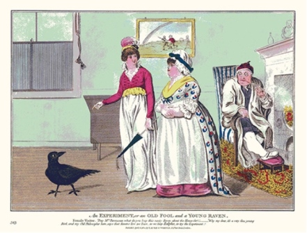 "2012 Annual Gout Print ""An Experiment, or An Old Fool and a Young Raven."""