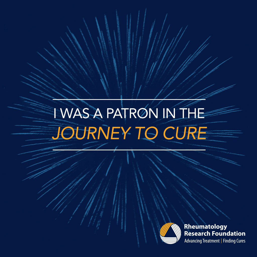 Journey to Cure Social Media Badge, a symbol of your role in ending rheumatic disease.