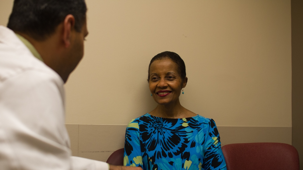 Patient with her rheumatologist, Dr. Vikas Majithia