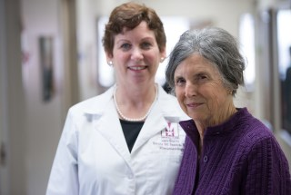 Rheumatologist Dr. Emily Isaacs with her patient Mary Rymell who has rheumatoid arthritis.
